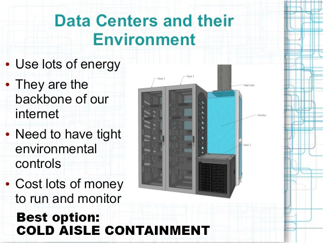 Cold Aisle Containment Options and Server pic